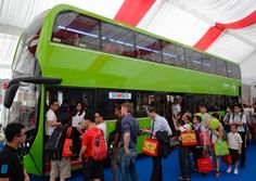 Singapore has chosen Lush Green for the new unified livery for the Singapore Bus. It was a close call with Lush Green edging out Bright Red. New Green, Lush Green, Buses, Green Colors, Singapore, Public, Truck, Middle, Articles