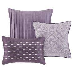 Purple Hudson Comforter Set California King 7pc : Target