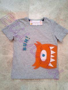Camiseta Niño Fieltro Monstruo de Elilyland