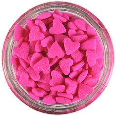 Pink Heart Sprinkles from Layer Cake Shop! Cute little hearts for decorating cakes, cupcakes, cake pops, cookies and more! Pink Love, Cute Pink, Pretty In Pink, Vintage Valentines, Be My Valentine, Cake Pops, Christmas Sprinkles, Pink Foods, I Believe In Pink