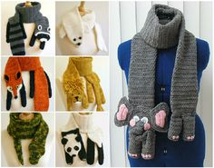 Crochet Animal Scarves!