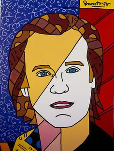 """Romero Britto's """"Patrick McMullen"""" 2005 40"""" x 30""""Acrylic on Canvas. Learn more about Romero Britto and Florida (The Sunshine State) at: www.floridanest.com"""