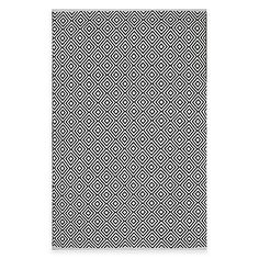 The flat weave Fab Habitat Veria Diamonds Indoor/Outdoor Rug is handcrafted from recycled cotton and features a subtle elegance with simple designs. Made to withstand the elements and everyday use, this rug is perfectly suited for indoors or the patio.