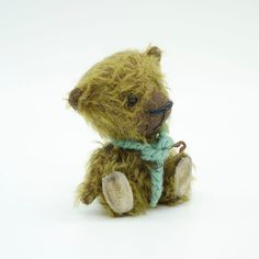 Handcrafted, teddy bear, original, collectable, miniature, jointed, mohair. Hand Blown Glass, First World, Miniatures, Teddy Bear, The Originals, Toys, Painting, Character, Animals