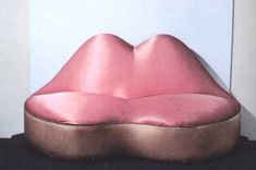 The Mae West Lips Sofa (1937) by Salvador Dalí.