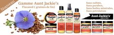 Aunt Jackie's Flaxseed Gamme enrichie en graines de lin pour les textures 1C-4C Afro, Pure Leaf Tea, Pure Products, Bottle, Natural Oils, Curly Hair, Seeds, Lineup, Flask