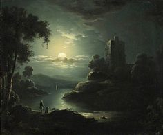 Sebastian Pether - Moonlit River Landscape