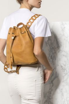 Stylish backpack handmade of top quality leather. Thetis design features our signature chain straps and left unlined so it won't weigh you down. It comes in two sizes and designed for busy days, weekend travels and all that falls in between. Available in 4 colors: camel /brown, black, black with white and nude/pink. Greek Chic Handmades bags for Women are designed and handcrafted in Athens, Greece from the same premium leather we built the sandals with and the impeccable local craftsmanship. Brown Backpacks, Stylish Backpacks, Leather Backpacks, Women's Backpacks, Brown Leather Backpack, Leather Clutch Bags, Casual Chic, Athens Greece, Women's Bags