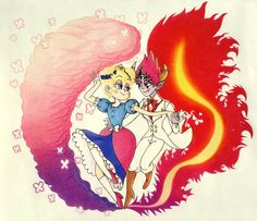 STARCO forever, but this is so cuuuuuute Starco, Tom Star, Miraculous, Homestuck Characters, Sailor Moon, Best Cartoons Ever, Star Force, Star Butterfly, Amazing Drawings