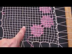 Capítulo 7 , Bordado parte tres Curso básico - YouTube Lacemaking, Filets, Bobbin Lace, Yarn Crafts, Ribbon Embroidery, Crafts To Make, Tatting, Needlework, Weaving