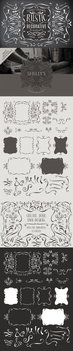 Hand Drawn Decorative Elements by Lisa Glanz | The Comprehensive, Creative Vectors Bundle Mar 2015 from Design Cuts