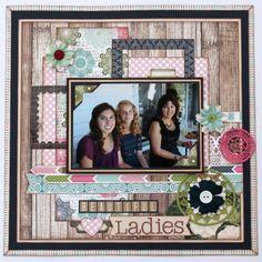 Scrapbook Layout Carta Bella~ Sew Lovely