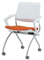Love the color combo on this pretty folding chair by Eurotech Seating. #whitechair #nestingchair #officechair