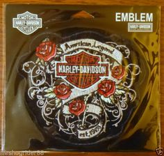 HARLEY DAVIDSON ROSE EMBLEM SEW ON PATCH NEW IN PACKAGE CHECK OUT MY EBAY LISTINGS-GREAT DEALS -GREAT PRICES!!