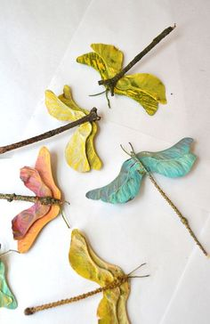 DIY Maple Seed Craft - Church Street Designs Blog - Maple Seed Dragonfly   Small for Big