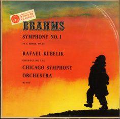 Kubelik, Chicago Symphony Orchestra- Brahms: Symphony C Minor, Label: Mercury MG 50007 Design: George Maas. Mercury Records, Record Art, Orchestra, Albums, Nostalgia, Chicago, Label, Classic, Cover