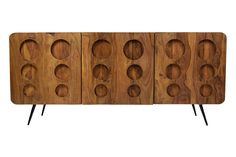 sideboard tv board massivholz retro klarion lowboard 140