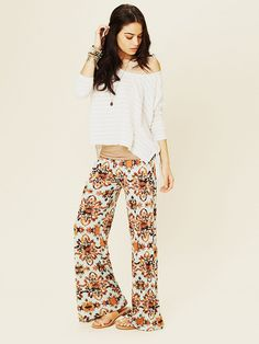 Free People Printed Beach Pant - Her pants are pretty stinkin groovy