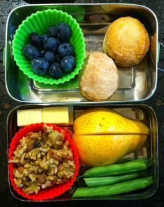 Bento for Baby: Bento for Baby 31: Whole Wheat Biscuits and Hoppin' John