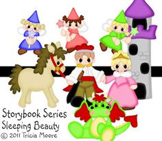 Storybook Series-Sleeping Beauty Collectionsvg, gsd, dxf, wpc, ai, pdf, png, and jpeg