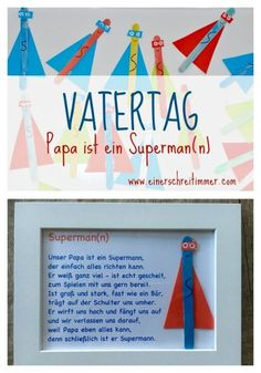 Vatertag-Papa-ist-ein-Superman Vatertag Geschenk: Ultraschnelles DIY: Papa ist unser Superheld