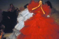 Thierry Mugler by Guy Marineau, 1983. Pat Cleveland, Sayoko, Dauphine Jerphanion