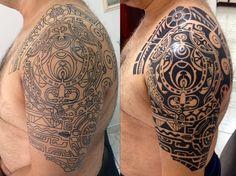 Tattoos News Pics Videos And Info Tribal Shoulder Tattoos, Tribal Sleeve Tattoos, Polynesian Tattoo Designs, Tribal Tattoo Designs, Tatuagem The Rock, Life Tattoos, Hand Tattoos, Ancient Tattoo, African Tattoo