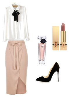 """""""☺️"""" by demi-tessa on Polyvore featuring mode, River Island, WithChic, Lancôme en Yves Saint Laurent"""