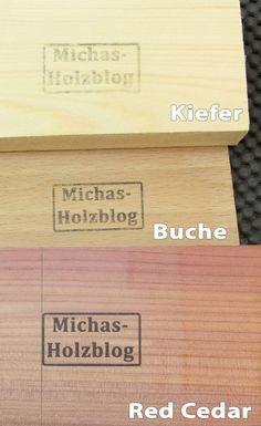 Michas Holzblog: Bedrucken von Holz mit einfachen Mitteln