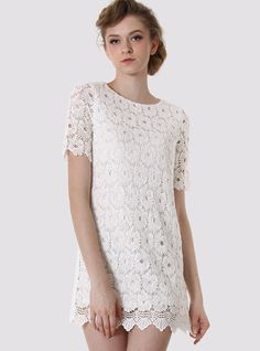 Off-white Crochet Floral Dress$49! All cross items start at $11, and you can get a free ring if shop over $70 before 4/10!  http://www.udobuy.com/index.php