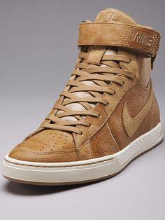 Nike Air Flytop in tan leather