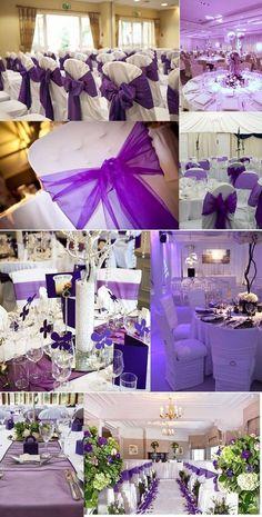Colorful Wedding Party---Purple Wedding, Part 3 – AprilDress Vintage Wedding Flowers, Purple Wedding Cakes, Purple Wedding Flowers, Wedding Colors, Cadbury Purple Wedding, Lavender Bridesmaid Dresses, Wedding Bridesmaids, Wedding Centerpieces, Wedding Table