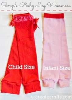 Make baby leg warmers from women's knee highs. This tutorial makes it easy with step by step instructions and pictures. Make some for your little one today