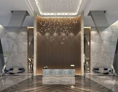 The lobby is the first thing that you see when you visit a luxury hotel, is the first impression that you have, and it can be good or bad. It is really important for the hotels to focus in their lobbi Hotel Lobby Design, Modern Hotel Lobby, Lobby Reception, Reception Design, Office Reception, Hotel Lounge, Lobby Lounge, Lobby Interior, Office Interior Design