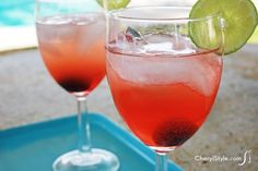 Sip happily with this simple vanilla cherry limeade cocktail recipe