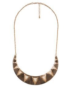 Tribal Pattern Boomerang Necklace | FOREVER21 - 1000046911
