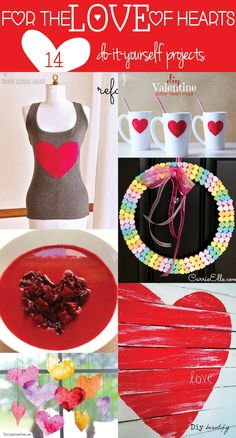 For the LOVE of hearts! 14 #DIY projects for Valentine's Day