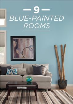 Refreshed And New With These 9 Blue Painted Rooms Cool Tones Get A Modern Makeover Use This Collection As Inspiration For Your Next Living Room