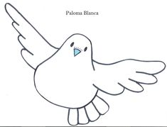 Modelo de palomas.Dibujos de palomas. | RECREAR - MANUALIDADES - ARTE Peace Crafts, Chicken Bird, Mandala Doodle, Paper Birds, Sketchbook Drawings, Bottle Cap Images, First Holy Communion, Easy Watercolor, Baby Crafts