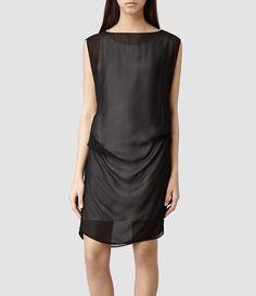 Women's Sierra Dress (Stone/Blk) -