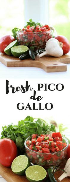 Fresh Pico de Gallo #freshsalsa #picodegallo