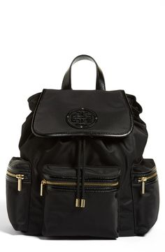 Such a cute bag for school! Tory Burch 'Stacked T Logo' Nylon Backpack - StackDealz #SDSpring @SDTrends #sdtrends