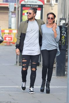 Lazy weekend: Stephanie Davis stepped out for a low key lunch date in Liverpool with her boyfriend Sam Reece on Saturday