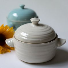 Personal Baker with Lid / Lidded Bakeware / by ToriDiPietroPottery