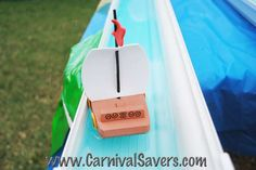 Summertime Carnival Game for Kids -- Toy Boat Races