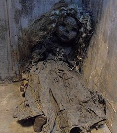 OOAK-Gothic-Horror-Skull-Decaying-Deathly-Mummified-Corpse-Doll