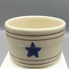 Hartstone Stars and Stripes Ramekin Patriotic Custard Cup Baking Dish Trinket in Pottery & Glass, Pottery & China, China & Dinnerware, Other China & Dinnerware Glass Serving Bowls, Baking Items, Farmhouse Chic, What's Cooking, Custard, St Kitts, Trinidad And Tobago, Dinnerware, Glaze