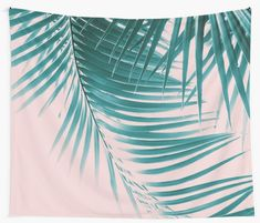"""Palm Leaves Summer Vibes #1 #tropical #decor #art"" Wall Tapestries by anitabellajantz 