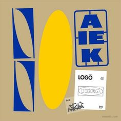 The link has more parody logos, but I think this Ikea one really works as a symbol, At this point most of us would get the meaning with just the blue and yellow. Graphic Design Posters, Graphic Design Typography, Corporate Design, Corporate Logos, Logo Inspiration, Do It Yourself Ikea, Ikea Logo, Popular Logos, Gfx Design