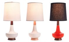 Caravan Pacific Table Lamps: Inspired by mid-century modern lamps and handcrafted in Portland, Oregon.